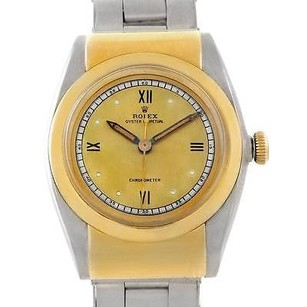 Rolex Rolex Vintage Hooded Bubbleback Steel Gold Watch 3065