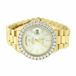 Rolex Day Date I Presidential Rolex 18k Gold Mens Diamond Watch Carats