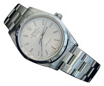 Rolex Mens Rolex Air-king No Date Stainless Steel Watch Wsilver Dial 14000