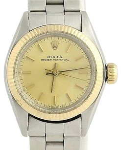 Rolex Rolex Oyster Perpetual Ladies Watch - Stainless Steel Gold Model 6719