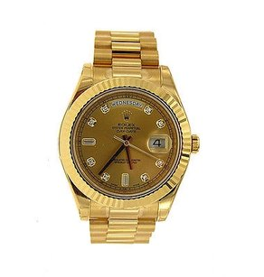 Rolex Rolex Watch - Day-date Ii President Yellow Gold - Diamond Dial 218238