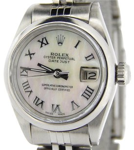 Rolex Rolex Datejust Lady Stainless Steel Watch Mop White Mother Of Pearl Roman Dial