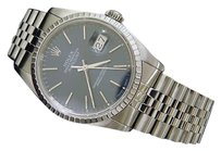 Rolex Rolex Datejust Stainless Steel Watch Jubilee Band Sapphire Crystal Blue 16220