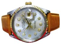 Rolex Mens Vintage Rolex Oyster Perpetual Datejust Diamond Steel Yellow Gold Watch