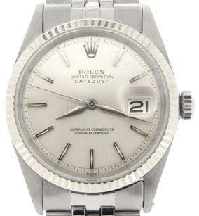 Rolex Rolex Datejust Stainless Steel W Silver Dial Jubilee Band 18k White Gold Bezel