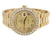 Rolex 18k Mens Yellow Gold Rolex Day-date Ii 41mm Presidential Diamond Watch Ct