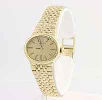 Rolex Rolex Womens Wristwatch - 14k Yellow Gold Ladies Dress Oval Face Polished