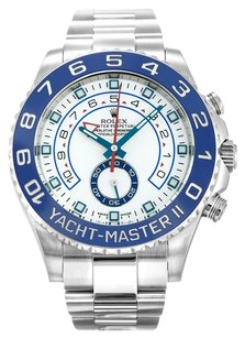 Rolex ROLEX YACHT-MASTER II 116680 STAINLESS STEEL WHITE DIAL MEN'S WATCH