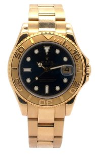 Rolex Rolex Yachtmaster 18K Yellow Gold Blue Dial Unisex Watch