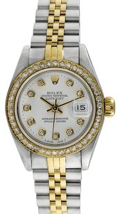 Rolex 18K/SS Datejust Custom Diamond 26mm Ladies Watch