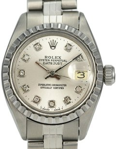 Rolex Rolex Lady Datejust Silver Diamond Dial 26mm Stainless Steel Watch