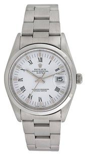 Rolex Rolex Oyster Perpetual Date Stainless Steel White Dial Men's Watch