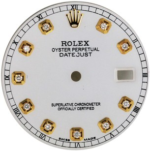 Rolex Custom Rolex White Diamond Dial for 36mm Watch - DIAL ONLY
