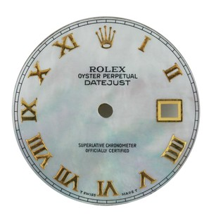 Rolex Custom Rolex White MOP Roman Dial to fit 36mm Watch - DIAL ONLY