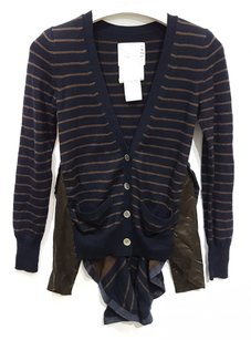 sacai Striped Military Flare Light Cardigan