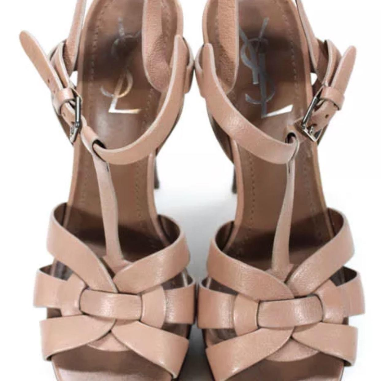 21d085508a3 Saint Laurent Beige Tribute Platforms Size US 7.5 7.5 7.5 Regular (M ...