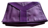Saint Laurent Deep Purple Clutch