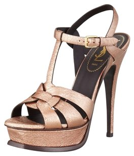 Saint Laurent Metallic Sandals