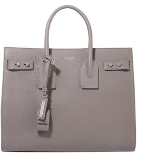 Saint Laurent Sac De Jour Medium Ysl Ysl Tote in Gray