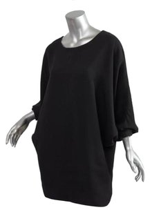 Saint Laurent short dress Black Womens Dolman Sleeve Batwing Zip 408 on Tradesy