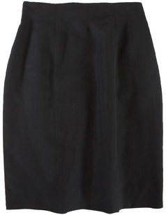 Saint Laurent Straight Pencil Skirt Black