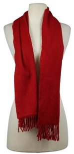 Saks Fifth Avenue Saks Fifth Avenue Womens Red Scarf Os Cashmere Casual Fringe