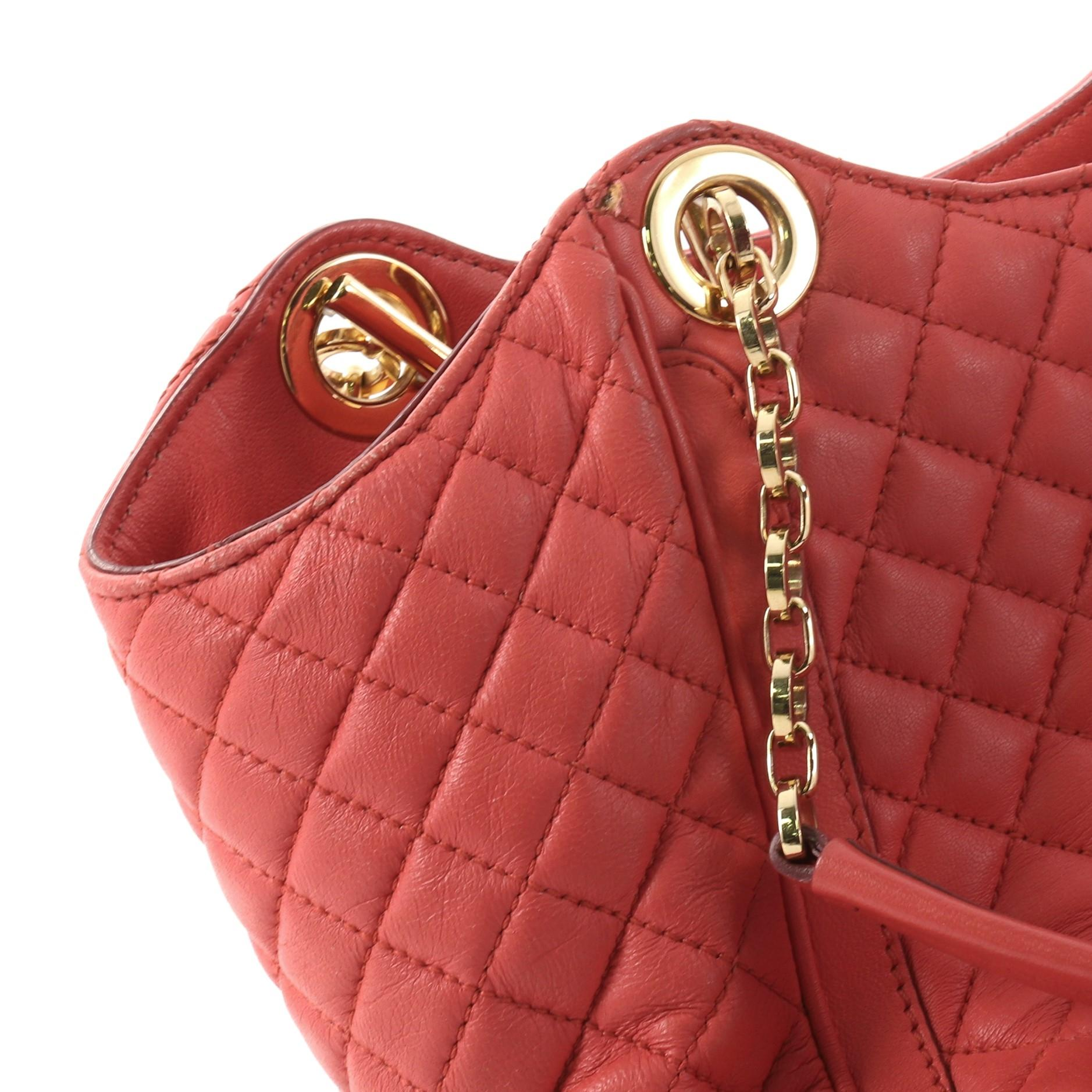 Salvatore Ferragamo Betulla Chain Tote Quilted Leather Small bvB6OSM