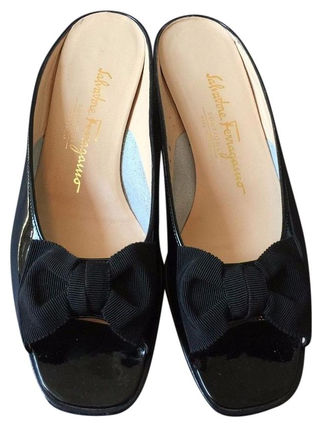 Cheap Sale Brand New Unisex Latest Collections For Sale Salvatore Ferragamo Patent Leather Mules Outlet Best Buy Cheap Sast Cheap Sale Shopping Online WEsBy