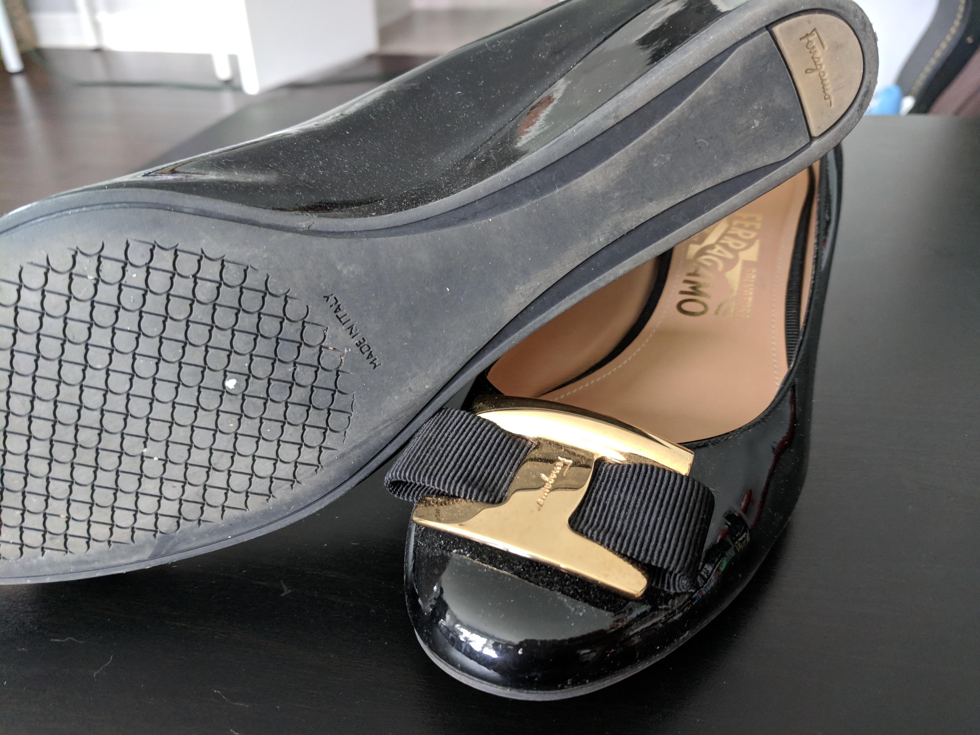 ae7f13b0b ... Salvatore Ferragamo Black Wedges Size US 7.5 7.5 7.5 Regular (M
