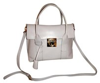 Salvatore Ferragamo Italian Leather Satchel in Gray