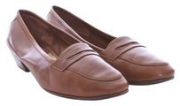 Salvatore Ferragamo Leather Italian Loafer Cognac Flats