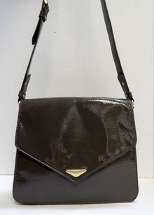 Salvatore Ferragamo Ecco Patent Leather Cross Body Bag