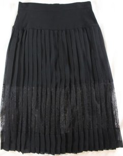 Sandro Femme Pleated Skirt Black