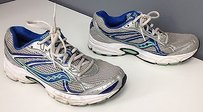 Saucony Womens Blue Green Accent Mesh Lace Up Sneaker B2489 White Athletic