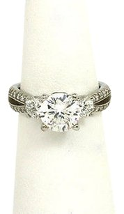 Scott Kay Scott Kay 1.06ct Diamond Platinum Mounting Solitaire Waccent Engagement Ring