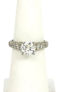 Scott Kay Designer Scott Key Platinum Diamond Solitaire Band Ring Mounting W Accents