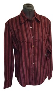 Scully Western Snap Buttons New Cowboy Cowgirl Button Down Shirt Burgundy