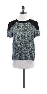 Sea New York Black Blue Floral T Shirt Black/Blue