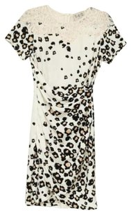 Sea New York Womens Leopard Print Silklace 0 Dress
