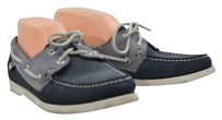Sebago Docksides Womens Boat Lace Up Loafers Leather Blue Flats