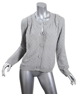 See by Chloé Chloe Womens Knit Button Down Cropped Jacket Cardigan 8m Sweater