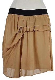 See by Chloé Chloe Womens Solid Above Knee 100 Straight Skirt Beige