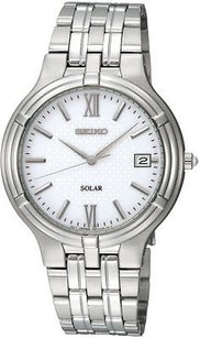 Seiko Mens Seiko Solar Date Watch Runs On Sun Or Room Light Sne025p1 Read Description