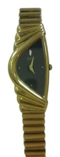 Seiko Seiko Wave gold tone ladies blue mother of pearl dial watch.