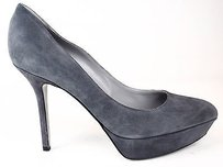 Sergio Rossi Grey Suede Gray Platforms