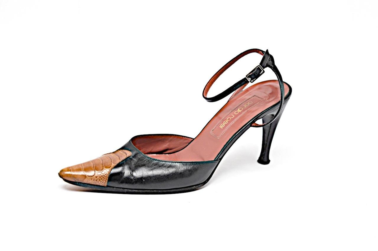 Sergio Rossi Alligator Slingback Pumps cheap sale footlocker finishline best prices cheap online zYUXN4ylA
