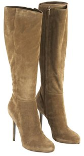 Sergio Rossi Suede Leather Tobacco Boots