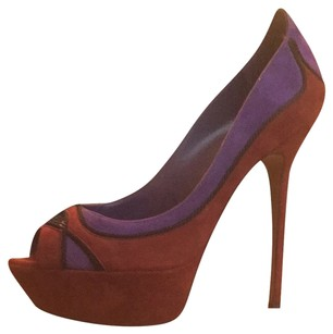 Sergio Rossi Dark Red, Purple, Black Pumps