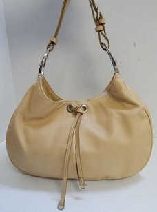 Sergio Rossi Italy Tan Nappa Leather Shoulder Bag