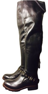 Sergio Rossi Thigh High Over The Knee black Boots